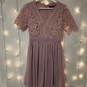 Lulu's Angel in Disguise Lace Skater Dress